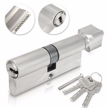 70 мм 90 мм латунный цилиндр компьютера латунный ключ с пластиком с кнопкой один Европа стандартный замок на дверь сейфа цилиндр с 3 клавишами