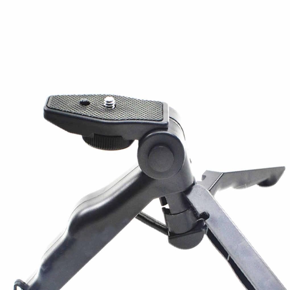 """Cámara Mini trípode de escritorio plegable de mano cardán estabilizador soporte 1/4 """"tornillo DSLR soporte"""