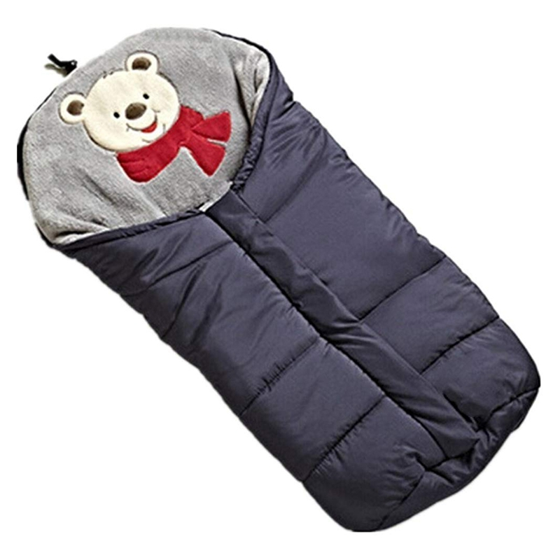 Winter Sleeping Bags Baby Envelope For Stroller Newborn Stroller Sleeping Bags 0-6M Dark Blue