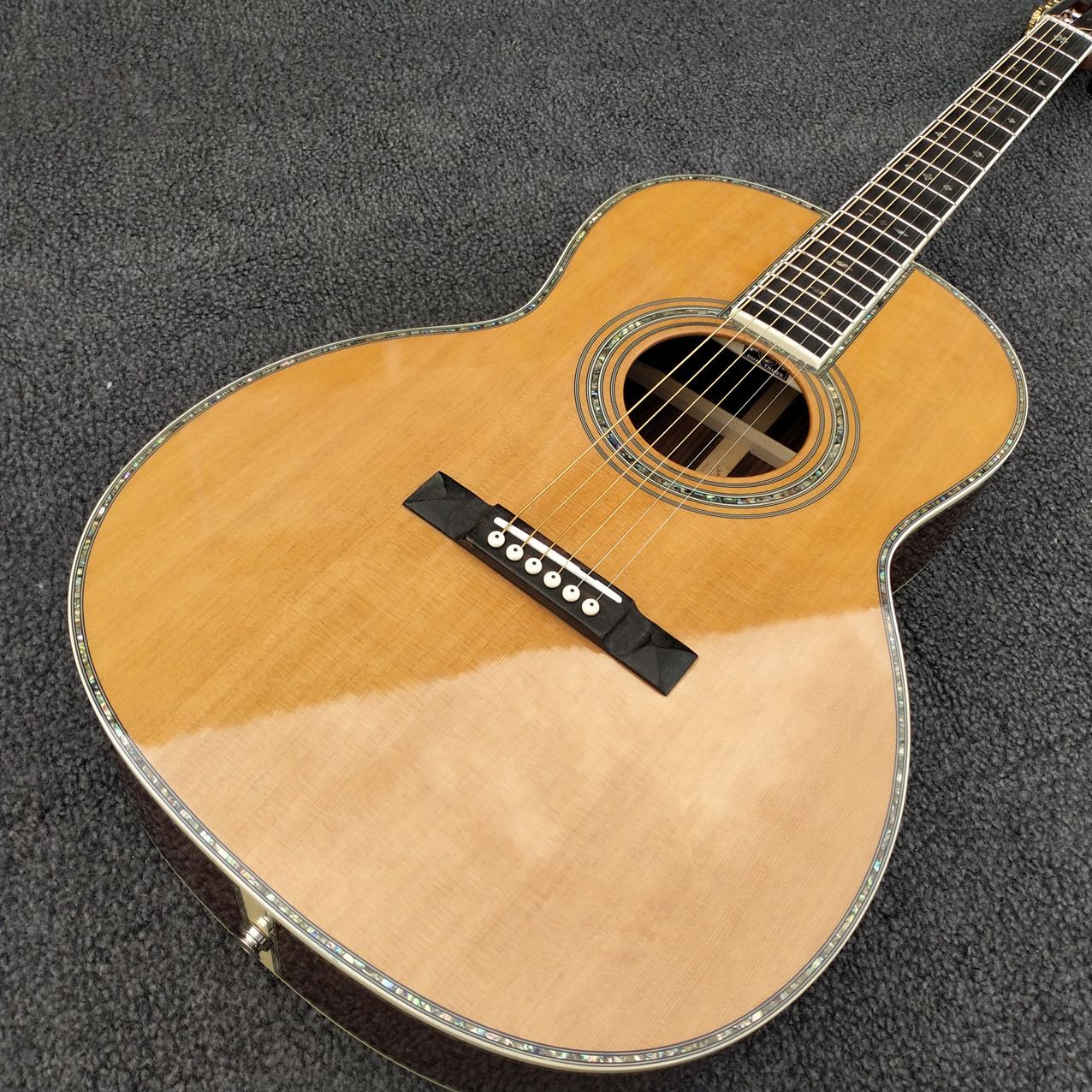 solid cedar top OOO model acoustic guitar 39 inch 42 style classic,real abalone,ebony fingerboard,free shipping