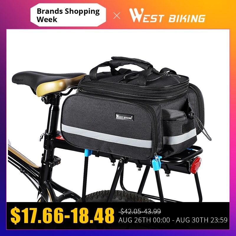 Sacs de vélo de vélo WEST grande capacité sac de cyclisme étanche VTT porte-selle sacs de coffre porte-bagages sac de vélo