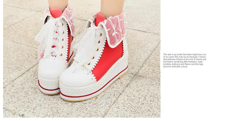 Sweet Lolita Anime College Bowknot Shoes 2