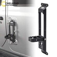 Bisagra de puerta de Paso pie Peg plegable Pedal de pie para Jeep Wrangler JK 2007 2018