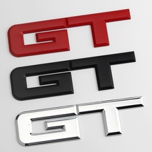 High quality 3D Metal Car Rear Sides Fender Trunk Decals GT Logo Emblems Badge Sticker For Ford Mustang EcoBost 5.0 L V8 GT пластина шкива к в 3302 дв камминз foton