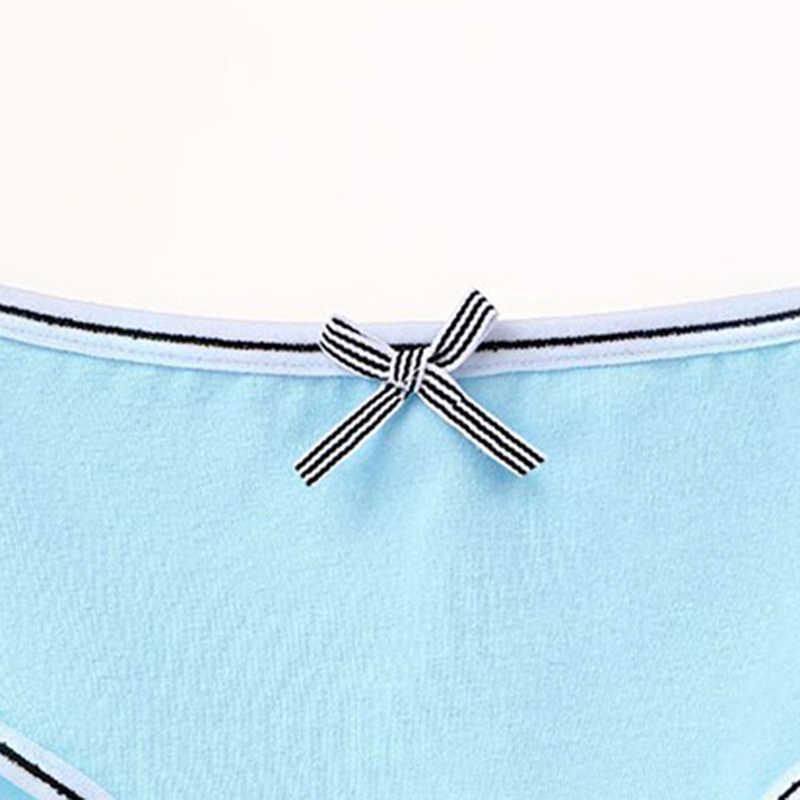 2020 Baru Wanita Katun Lembut Peregangan Celana Dalam Lucu Busur Bernapas Pakaian Padat Pinggang Celana Elastis Kenyamanan Panty Intim