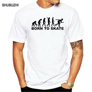 Evolution inline skater t shirt nascido para skate t-camisa dos homens cinza topos oversized t roupas de verão algodão tecido tshirt