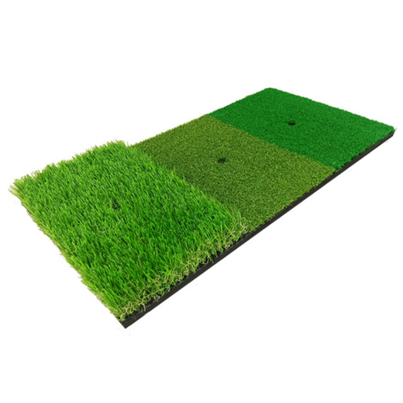 Golf Practice Mat Artificial Lawn Grass Rubber Pad Backyard Outdoor Golf Hitting Mat Durable Training Pad New Arrival
