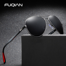 FUQIAN Brand New TR90 Pilot Polarized Sunglasses Men Vintage Metal Outdoor Sun Glasses Uniesex Fashion Driving Eyewear