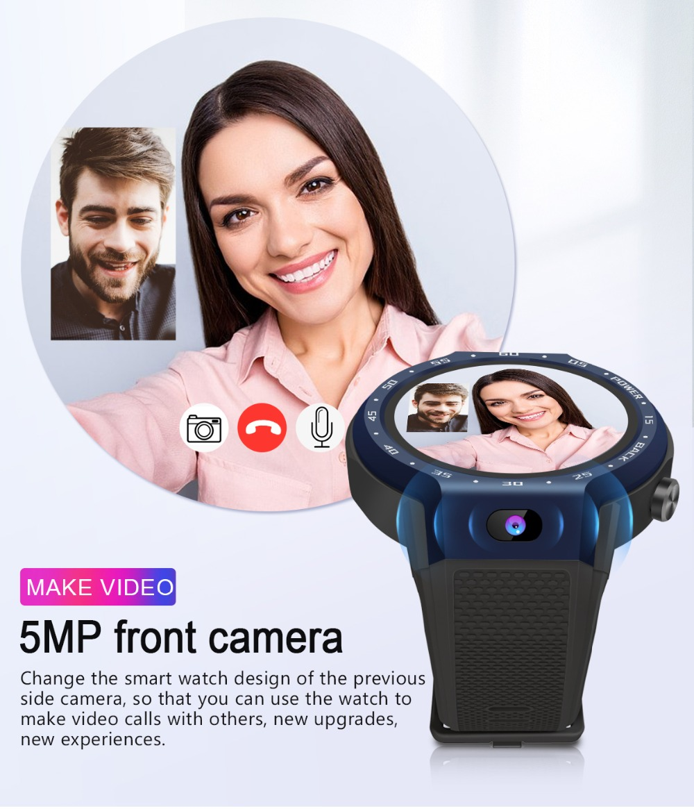 TORNTISC Z30 Dual Systems 4G Smart Watch phone Android 7.1 5MP Front Camera 600Mah Battery Support GPS WIFI Heart Rate Smartwatch PK LEM9 Presale (4)
