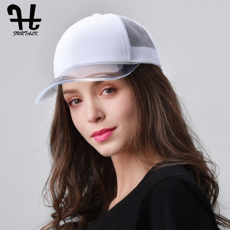 FURTALK Baseball Cap Women Summer Snapback Cap Ladies Black Hip Hop Mesh Trucker Caps Pink Female Baseball Hat For Girls