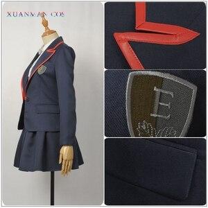 Image 4 - 엘리트 학교 제복 제복 성인 여성 자켓 셔츠 치마 Pleated JK 천을 TV 시리즈 코스프레 할로윈