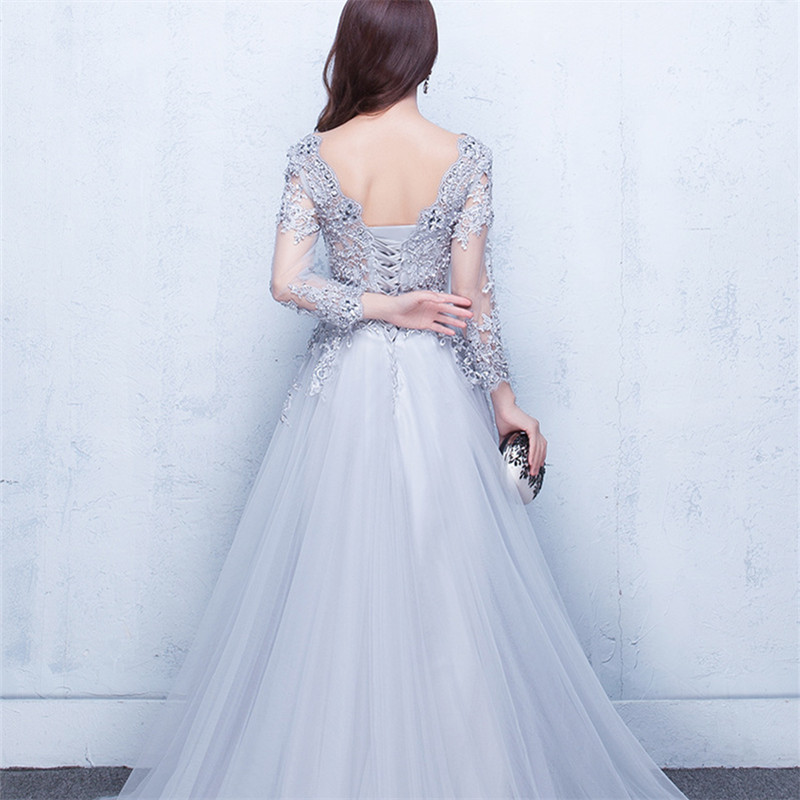 Это Yiiya Новое элегантное вечернее платье в пол с открытой спиной на шнуровке с цветами вечерние платья LX048