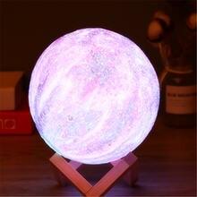 16 цветов 3d печать лампа в виде звезды и Луны цветная сменная