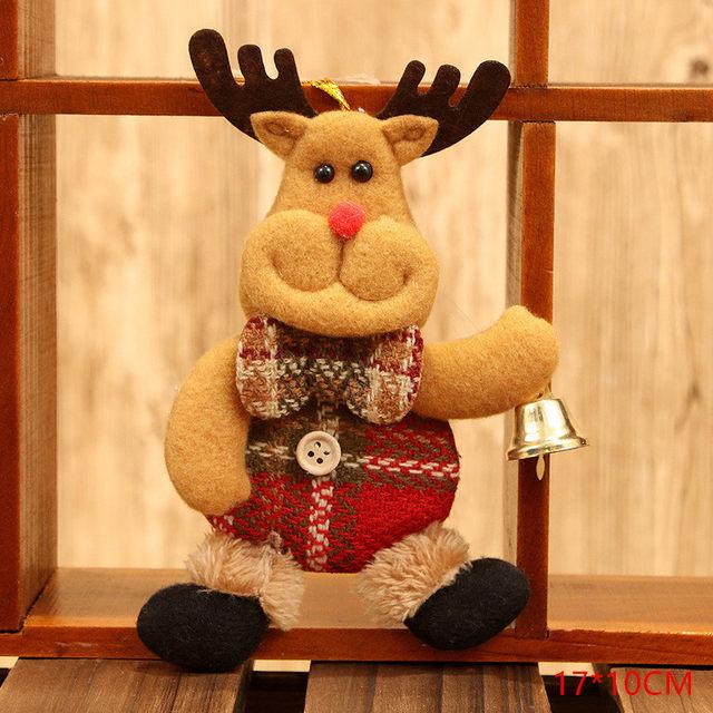 New Year 2020 Cute Santa Claus/Snowman/Angel Christmas Dolls Noel Christmas Tree Decoration for Home Xmas Navidad 2019 Kids Gift 45