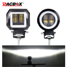 """3 """"7D Led Verlichting 20W Rijden Koplampen Fog Lamp Dagrijverlichting Wit 6000K Voor Auto S motorfiets Atv Suv 12V 24V"""
