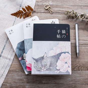 1 Pcs Cute Cat Notebook Paper Sketch Book Office School Supplies Gift New Blank Vintage Sketchbook Diary Drawing Painting moetron cute sketchbook white paper notebook drawing book spiral sketch book with blank pages