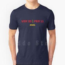 Checa-Camiseta de equipo de carreras para hombre, prenda de vestir, de algodón, de talla grande, con diseño de equipo de 100%, en material de poliéster, con diseño de strass Perez Mv 33, modelo 2021