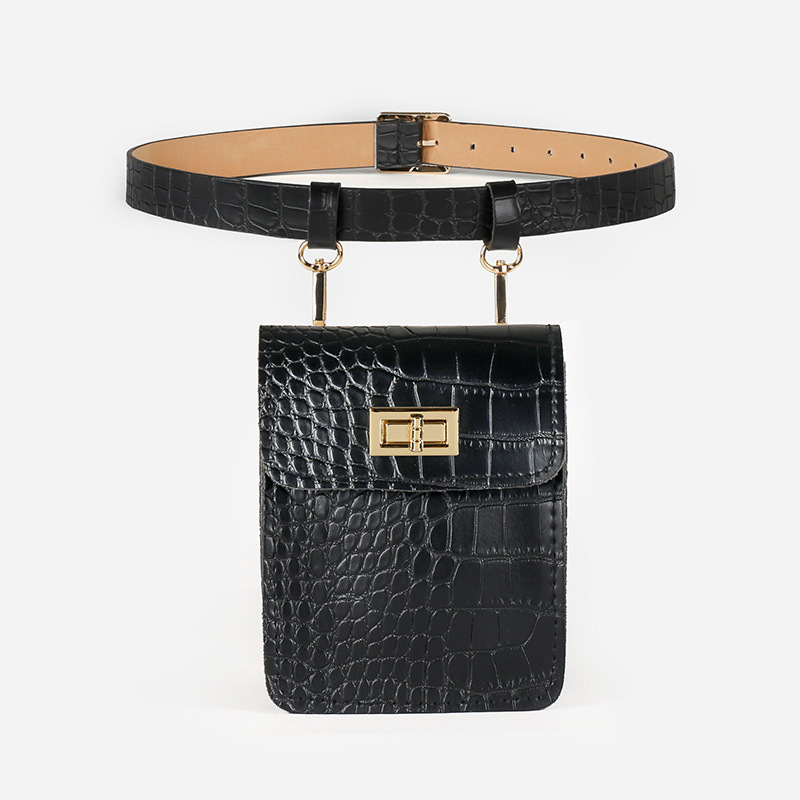 2020 New Fashion Spring Trendy Belt Bag For Women Solid Serpentine Leather Hot Sale Waist Bag Female All-match Bag Stylish ZK282