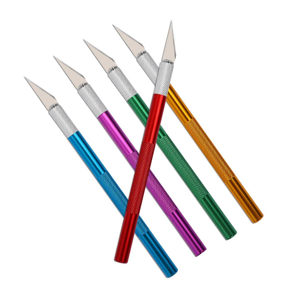 6 شفرات الحرفية الفني قطع سكين DIY نحت سكين استنسل التهديف هواية الحفر نموذج إصلاح النحت مشرط سكين