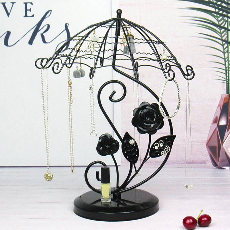 Jewelry Organizer Hanging Holder Display Stand Desktop Earring Necklace Ring Rack Bracelet Stand Tray Jewelry Display  K2