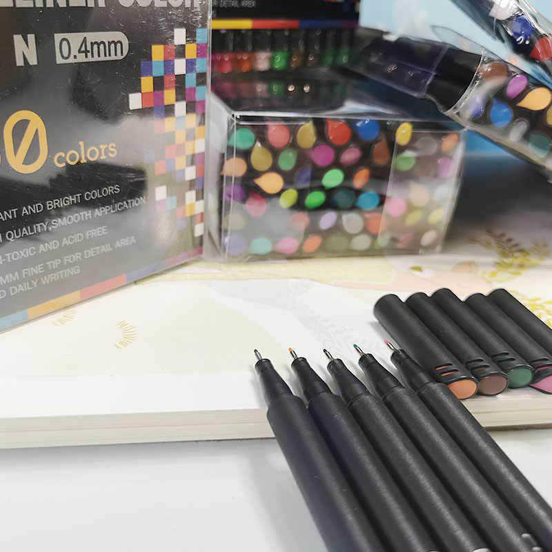 Phiên Tòa Xét Xử Gói 12 0.04 Mm Màu Nylon Đầu Móc Dây Chuyền Bút Tay Copic Dấu Bút Dụng Cụ Vẽ Truyện Tranh Màu bút Nghệ Thuật Màu Nước
