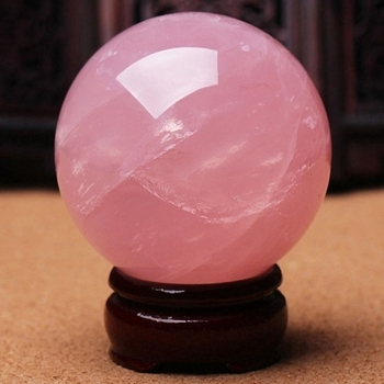 Natural Pink Rose Magic Quartz Crystal Healing Ball Sphere Decor 30MM With Bases natural blue sodalite stone ball mineral quartz sphere hand massage crystal ball healing feng shui home decor accessory 40mm