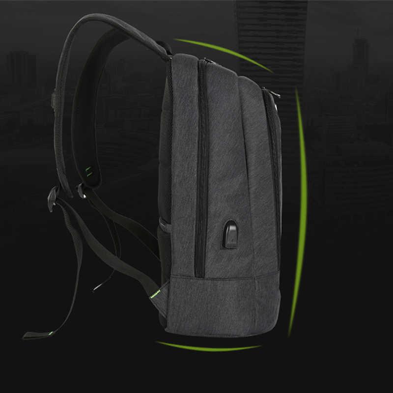 "15/"" Waterproof Men Laptop Backpack School Bag Rucksack Satchel Swiss Pack Travel"