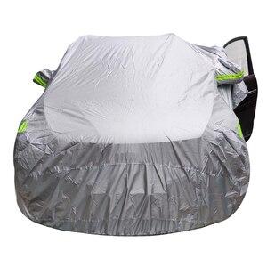 Image 2 - Universal SUV/Sedan Full Car Covers Outdoor Waterproof Sun Rain Snow Protection UV Car Umbrella Silver S XXL Auto Case Cover