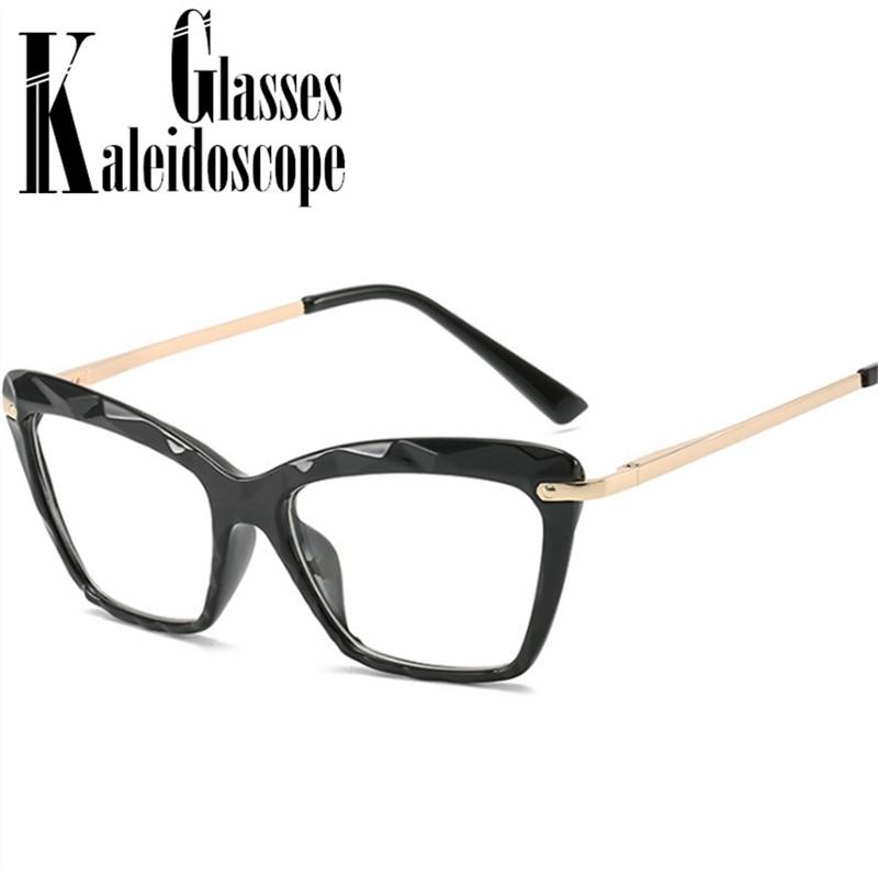 Fashion Square Glasses Frames Women Transparent Lens Myopia Eyeglasses Vintage Trending Styles Brand Optical Computer Glasses
