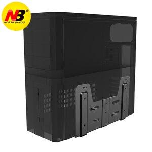 Image 2 - NB G15 компьютер для настенного монтажа чехол держатель боковое крепление пк Mainframe подвесной кронштейн настольное шасси хост кронштейн