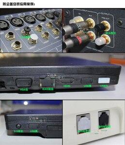 Image 4 - 10 قطعة الصوت والفيديو شبكة بيانات الغبار التوصيل مقاوم للماء الغطاء الواقي لينة سيليكون VGA BNC USB RJ45 RJ11 جاك 3.5/6.35 RCA