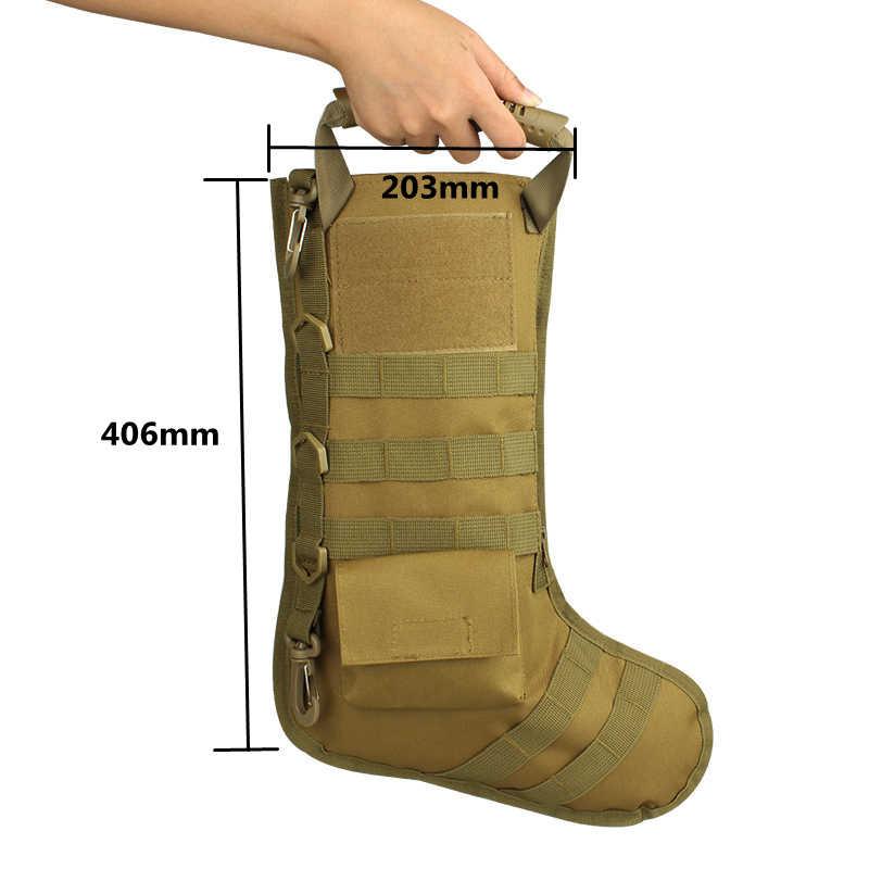 Su geçirmez taktik çorap Molle dayanıklı avcılık çekim saklama torbaları noel çorap çorap ile mücadele ordu Paintball çorap