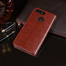 Para huawei honor 7c AUM L41 caso 5.7 flip aleta carteira de negócios couro caso do telefone para honra 7c rússia versão capa acessórios