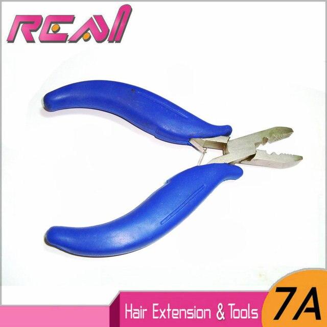 1 pezzo Strumenti di Capelli del Ciclo Micro Anello Extensions Pinze In Acciaio Inox Pinze per Capelli Rivestito Con Blu Manico In Plastica di Colore