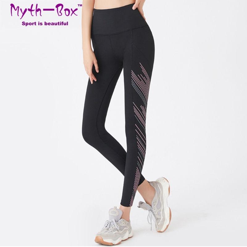 Women Yoga Pant Gym Fitness Tights Female Sport Leggings Stripes Leggin Quick Dry Capris Slim Running Trouser Woman Elastic Pant