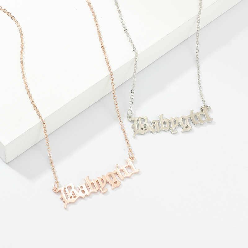 고품질 2020 새로운 유행 보석 금 Babygirl 편지 목걸이 이름 펜던트 엄마를위한 사랑스러운 선물