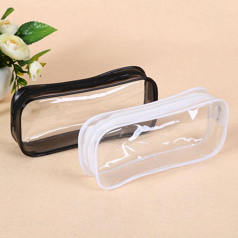Pencil Bag Transparent Student Pencil Case Large Capacity Portable Pencil Case Simple Style Fashionable