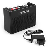 ammoon POCKAMP Guitar Amplifier Amp Built-in Multi-effects Drum Rhythms Support Tuner Tap Tempo with Aux Input Headphone Output
