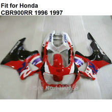 Compression mold bodyworks fairings for Honda red white black CBR900RR 893 CBR893RR 1996 1997 fairing kit CBR 893 96 97 NC06