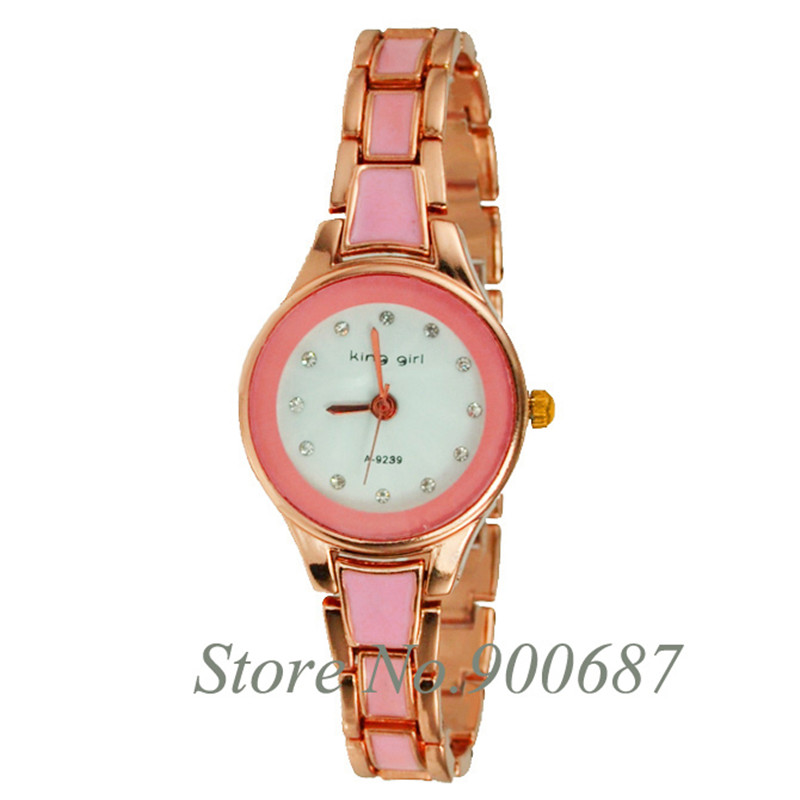 King Girl Watches Fashion Casual Women Luxury Rose Gold Analog Quartz Bracelet dress