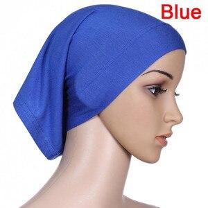 Soft Modal Inner Hijab Caps Muslim Stretch Turban Cap Islamic Underscarf Bonnet Hat Female Headband Tube Cap Turbante Mujer