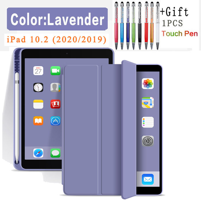 Flip Case-Lavender Yellow Silicone Case For iPad 10 2 2020 2019 Pu flip leather case For iPad 10 2