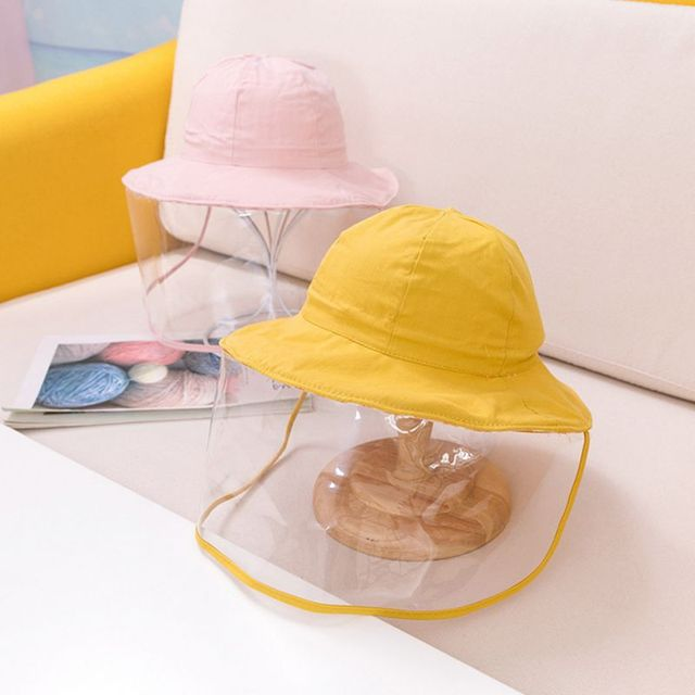 Protective Baby Hat 2020 Kids Bucket Hat for Girls Boys Prevent Wind Sand Spittle Face Mask Kids Cap Child Hats 1