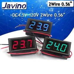 2 провода постоянного тока измеритель напряжения dc4.5в-120 в обратная защита 0,56 дюймов светодиодный цифровой дисплей компоненты для