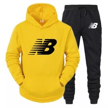 2021 new autumn fashion sports men's Hoodie, Nb brand suit, men's sweatshirt and pants, wool Hoodie, autumn winter