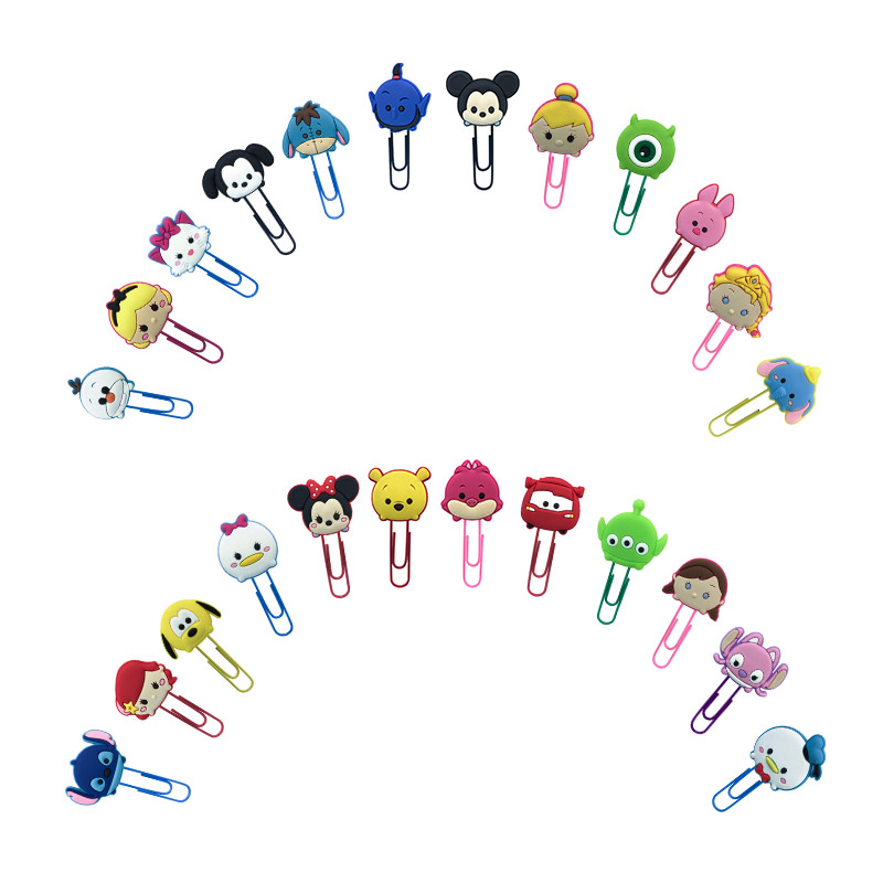 1PCS Hot Cartoon Mickey Bookmarks Minnie Paper Clips School Office Supplies Stationery Page Holder For Teacher Gift To Friends