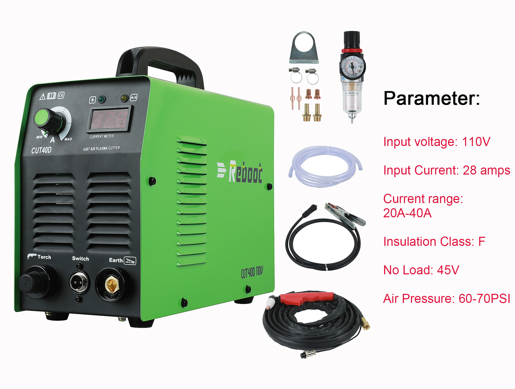 Reboot 220V Or 110V Plasma Cutter CUT40 Cutting Thickness 12mm For All Kinds Of Steel Clean Cutting Machine MOSFET Technology
