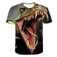 Camisa estampada para homem com cabeza de dinosaurio camisa casual novo estilo 2021