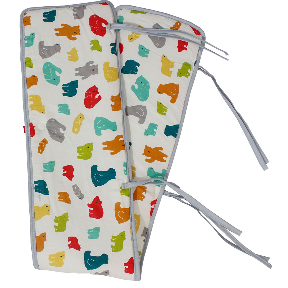Home Baby Safe Cartoon Printed Anti Collision Teething Guard Protector Protective Nursing Wrap Cotton Blend Crib Bumper Cover