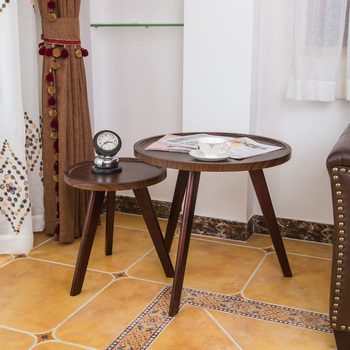 Nowoczesne proste stoliki do sypialni Nordic drewniany stolik kawowy Sofa stoliki balkon stolik stolik meble kuchenne tanie i dobre opinie CN (pochodzenie) Z tworzywa sztucznego China 55*60cm Europa i ameryka ALIEN Samowystarczalny